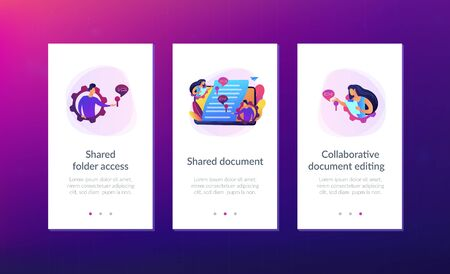 Shared document app interface template.