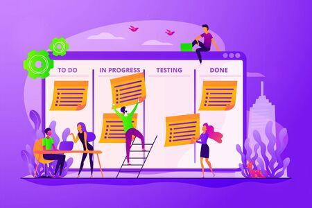 Task management concept vector illustration