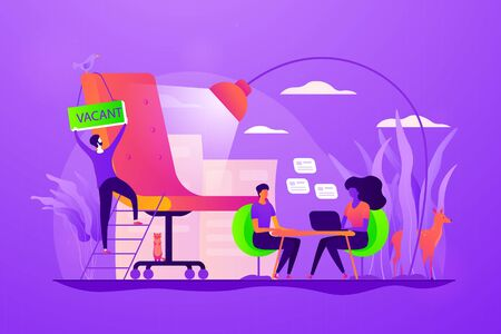 Recruitment agency concept vector illustration.