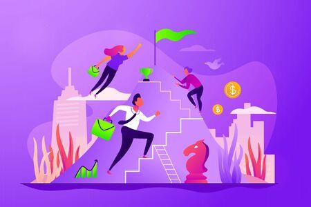 Career growth concept vector illustration. Illustration