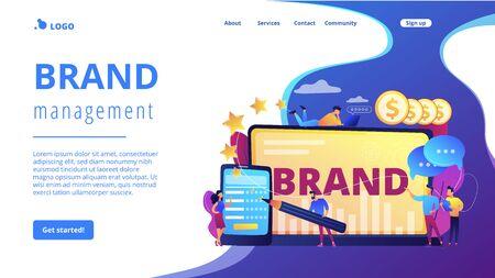Brand reputation concept landing page