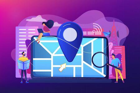 Local search optimization concept vector illustration