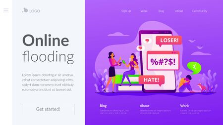 Cyberbullying landing page template