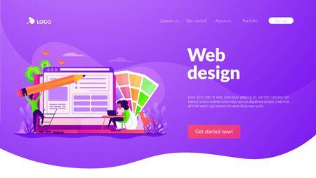 Web design landing page template