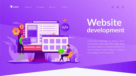 Web development landing page template