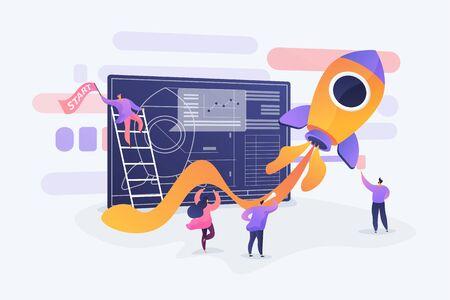 Start up concept vector illustration