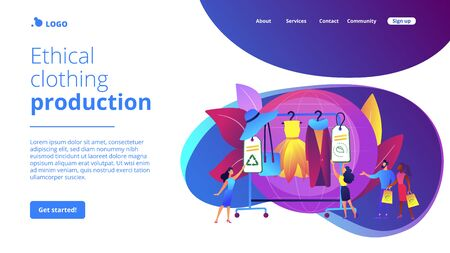 Sustainable fashion concept landing page