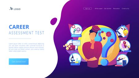 College choice concept landing page Illustration