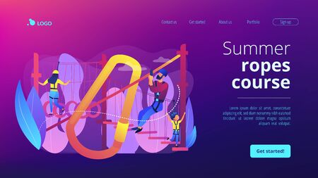 Summer ropes course concept landing page.