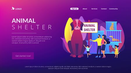 Animal shelter concept landing page