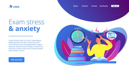 Exams and tests concept landing page