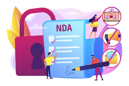 Nondisclosure agreement concept vector illustration Ilustração Vetorial
