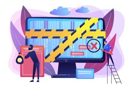 Illustration vectorielle de criminalistique informatique concept