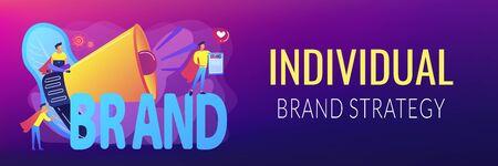 Personal brand concept banner header Illusztráció