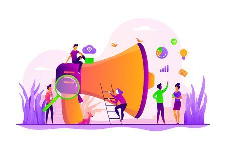 Illustrazione vettoriale di concetto di squadra di marketing Vettoriali