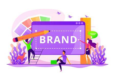 Brand identity concept vector illustration