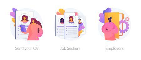 Looking for a job vector concept metaphors. Ilustración de vector