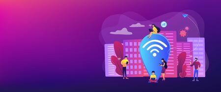 Public wi-fi hotspot concept banner header
