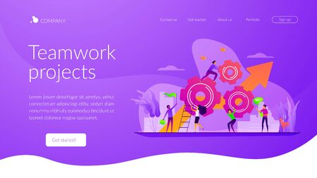 Teamwork power landing page template