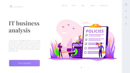 Business rule landing page template Illustration
