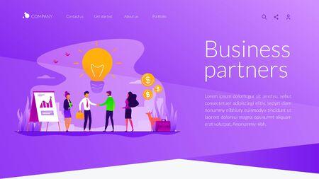 Partnership landing page template