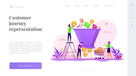 Sales funnel management landing page template