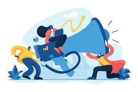 Marketing team concept vector illustration.