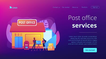 Post office concept landing page