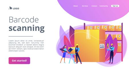 Barcode scanning concept landing page