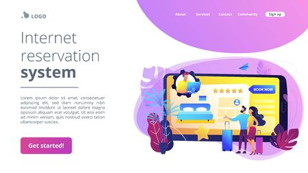 Hotel booking call center concept landing page
