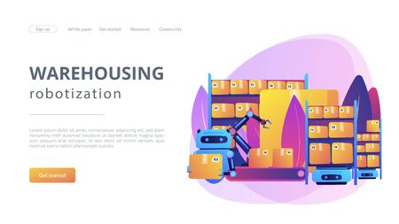 Warehousing robotization concept landing page