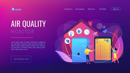 Air quality monitor concept landing page