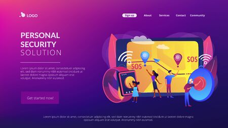Personal emergency button concept landing page