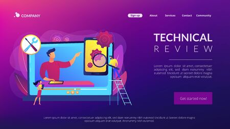 Technical review concept landing page