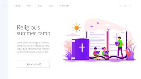 Religious summer camp landing page template