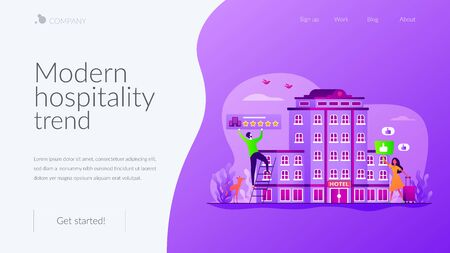 Lifestyle hotel landing page template