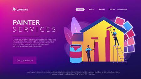 Painter services concept landing page Ilustração