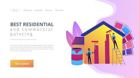 Painter services concept landing page
