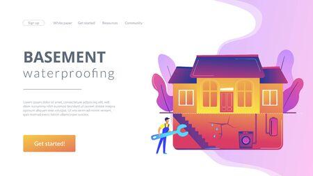 Basement services concept landing page