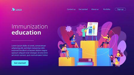 Immunization education concept landing page.