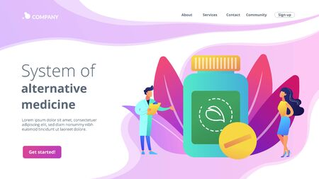Homeopathy concept landing page Stock Illustratie