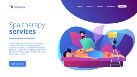 Professional massage therapy concept landing page Stock Illustratie