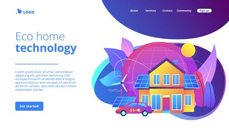 Eco house concept landing page.