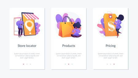 Online store webpage template. Vektorgrafik