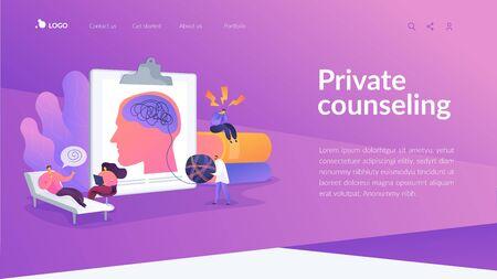Psychologist service landing page concept