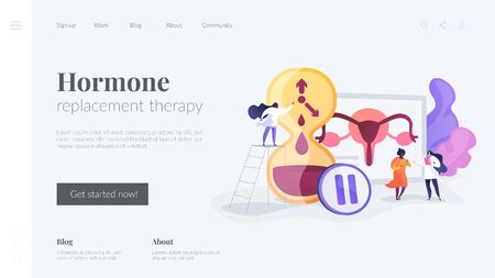 Menopause landing page concept Çizim