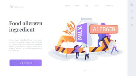 Food allergy landing page concept