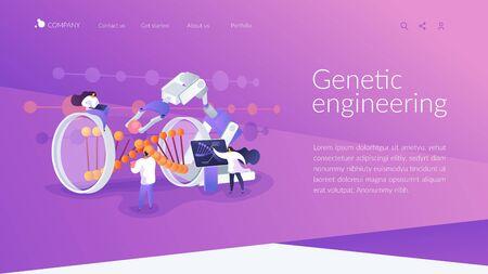Genetic engineering landing page concept