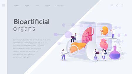 Lab-Grown Organs landing page concept