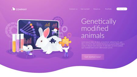 Genetically modified animals landing page concept